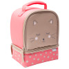 Soft Lines 2-compartment Reusable Insulated Lunch Bag, Kitties slideshow image 3