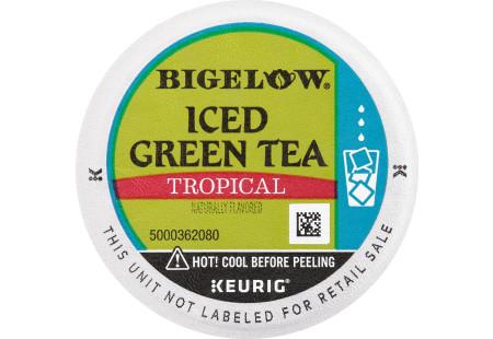 Lid of Tropical Iced Green Tea K-cup pod