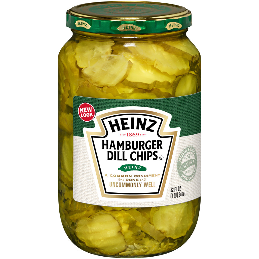 Heinz Hamburger Dill Chips Pickles, 32 fl oz Jar