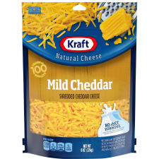 Kraft Shredded Mild Cheddar Natural Cheese 8 oz Pouch