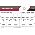 "Stainless Steel AN Washers Assortment (#6 thru 1"")"