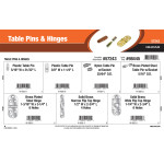 Table Pins & Hinges Assortment