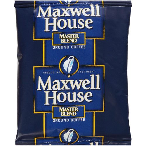 MAXWELL HOUSE Master Blend Roast & Ground Coffee, 1.5 oz. Packets (Pack of 160)
