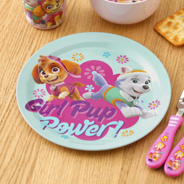 Paw Patrol Kid's Dinnerware Set, Skye and Everest, 3-piece set slideshow image 9
