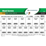 Flat-Head Slotted Brass & Steel Wood Screws Assortment (#6)