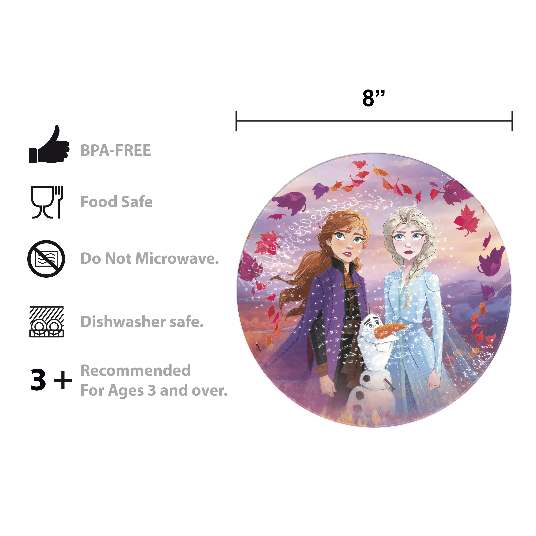 Disney Frozen 2 Movie Kids 9-inch Plate and 6-inch Bowl Set, Anna and Elsa, 2-piece set slideshow image 6