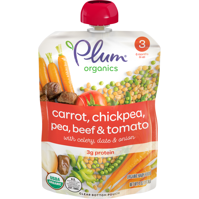 Carrot, Chickpea, Pea, Beef & Tomato Baby Food
