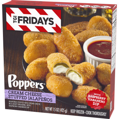 T.G.I Friday's Poppers Cream Cheese Stuffed Jalapenos, 15 oz Box