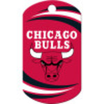 Chicago Bulls Chrome Large Military ID Quick-Tag