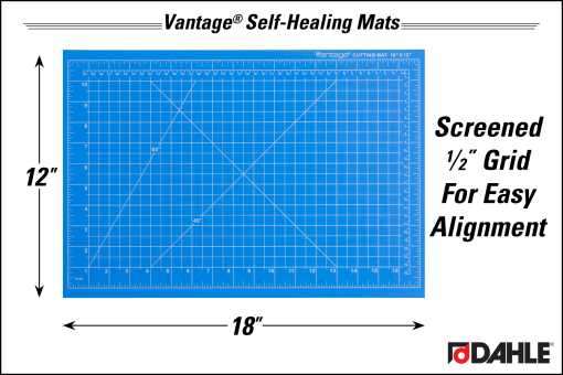 "Dahle Vantage® 12"" x 18"" Self-Healing Cutting Mat, Blue - InfoGraphic"