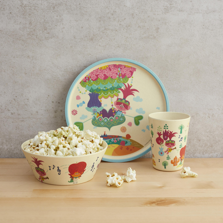 Trolls 2 Movie Kids 3-piece Dinnerware Set, Poppy & Friends, 3-piece set slideshow image 9