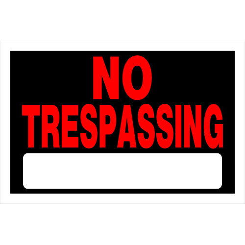 Adhesive No Trespassing Sign (8