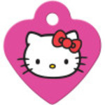 Hello Kitty Pink Small Heart Quick-Tag