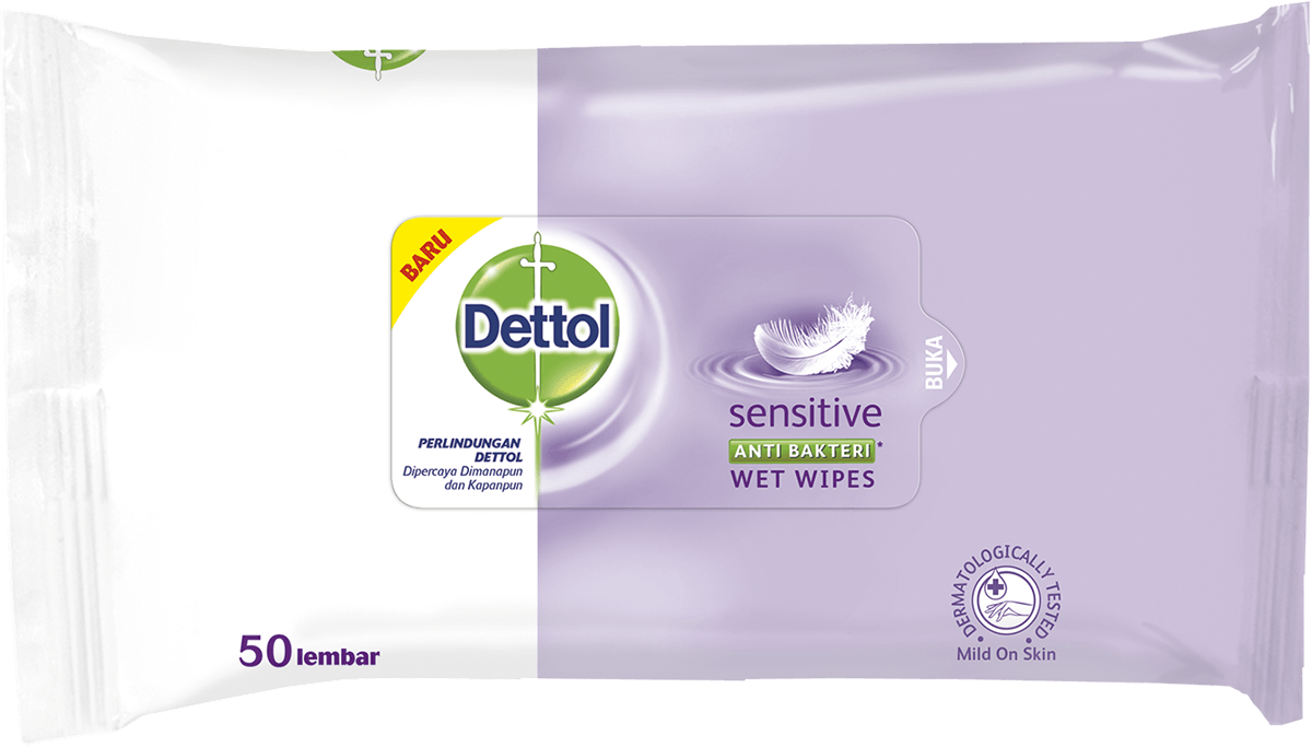 Dettol Anti Bakteri Wet Wipes Sensitive