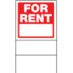 Double Sided For Rent Sign With Frame