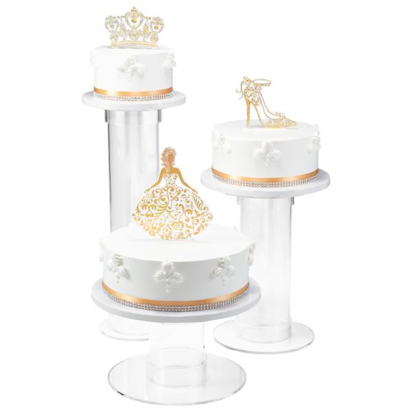 Gold Quinceañera Cake Kit
