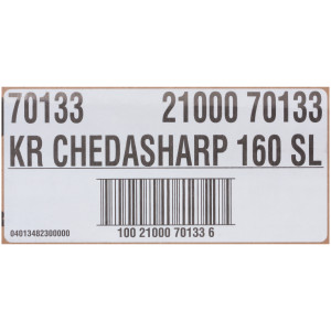 KRAFT ChedaSharp Sliced Cheddar Cheese (160 Slices), 5 lb. (Pack of 4) image