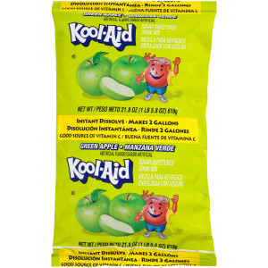 Kool-Aid Green Apple Powdered Drink Mix, 21.8 oz. Pouch (Pack of 15) image