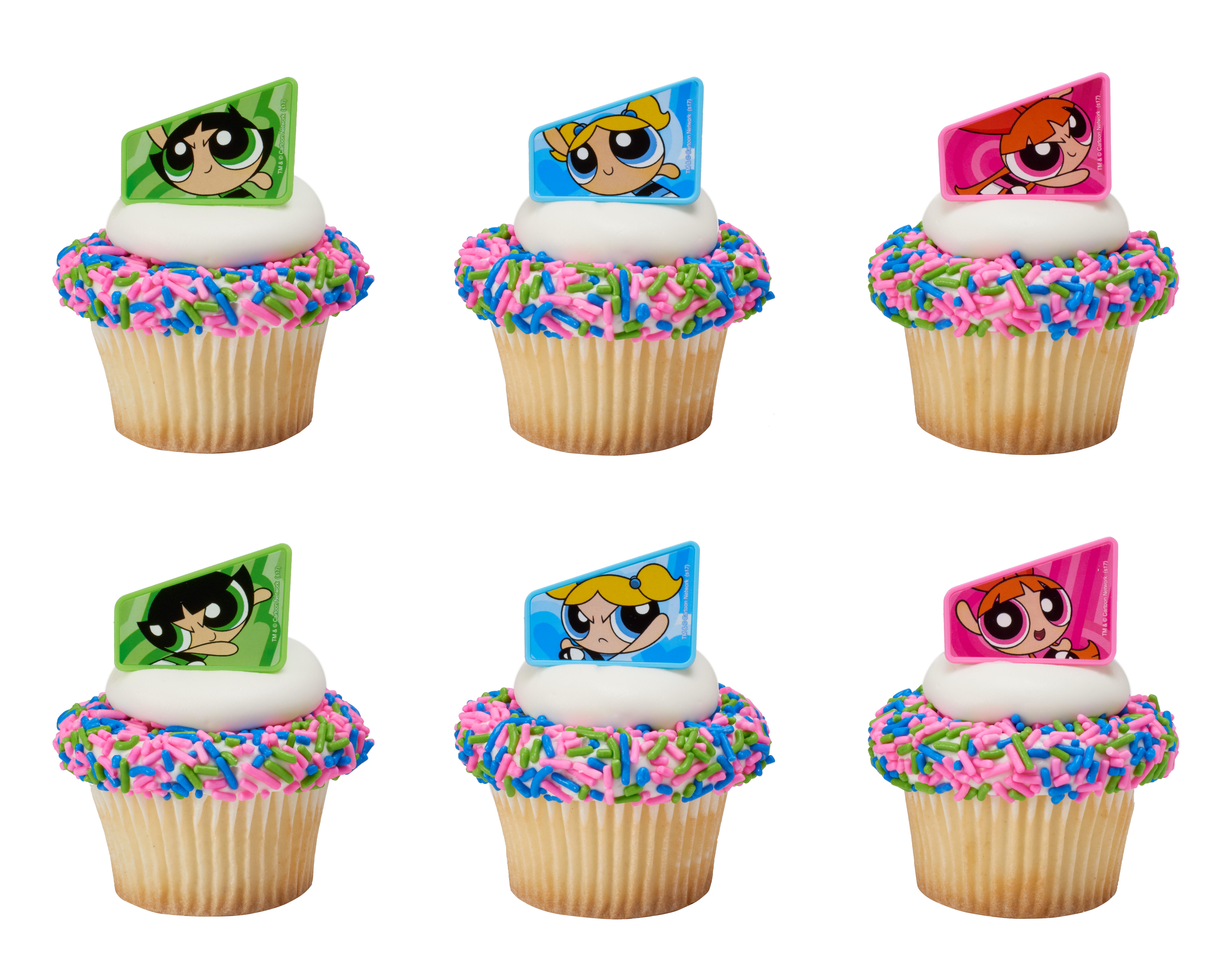 The Powerpuff Girls Saving The World Cupcake Rings