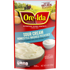 Ore-Ida Sour Cream Homestyle Mashed Potatoes, 4 oz Pouch