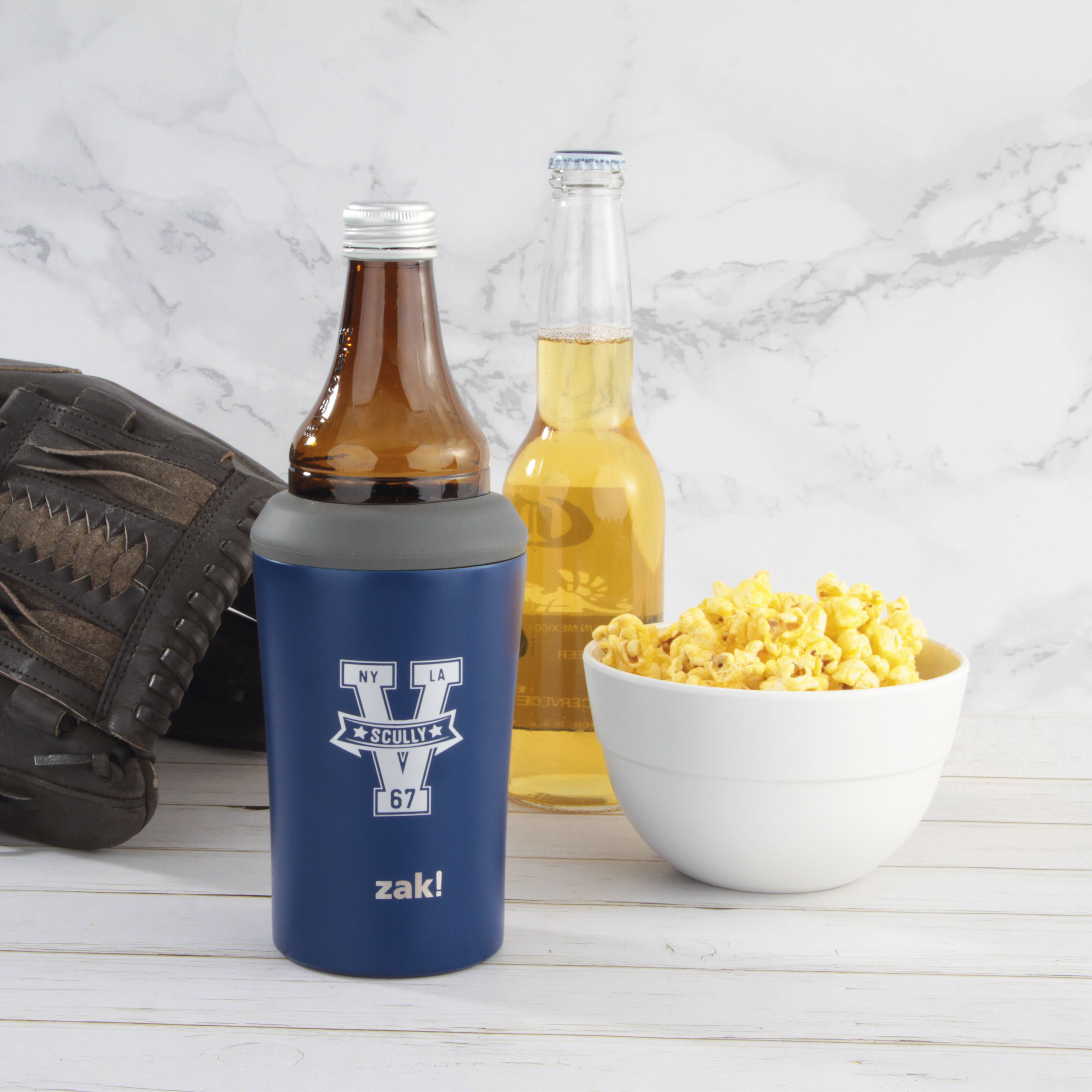 Zak Hydration 12 ounce Double Wall Stainless Steel Can and Bottle Cooler with Vacuum Insulation, Vin Scully slideshow image 5