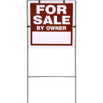 """For Sale by Owner Sign with Frame (18"""" x 18"""")"""