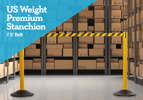 Premium Steel Stanchion - Yellow with CYB belt 2