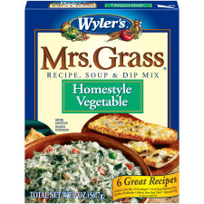 Wyler's Mrs Grass Home-style Vegetable Recipe, Soup & Dip Mix 2 oz Box