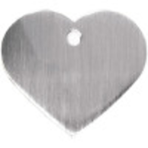 Brushed Chrome Large Heart Quick-Tag 5 Pack