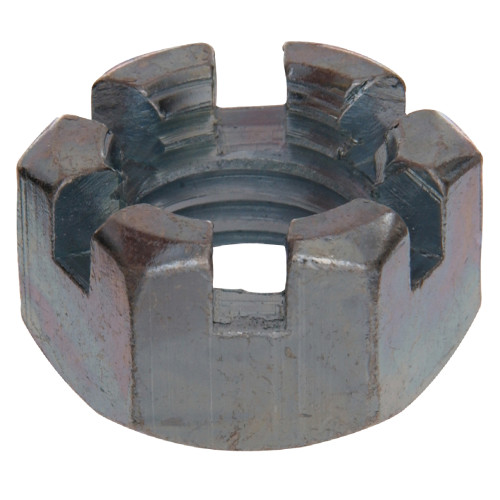USS Coarse Hex Slotted Nuts 1/4
