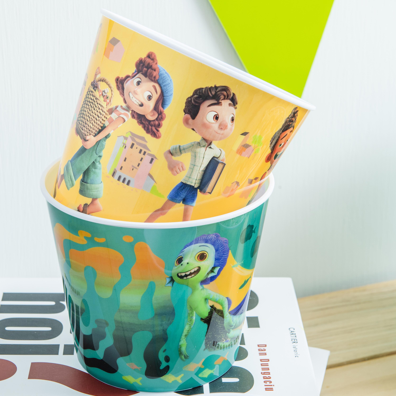 Disney and Pixar Plastic Popcorn Container and Bowls, Luca, 5-piece set slideshow image 3