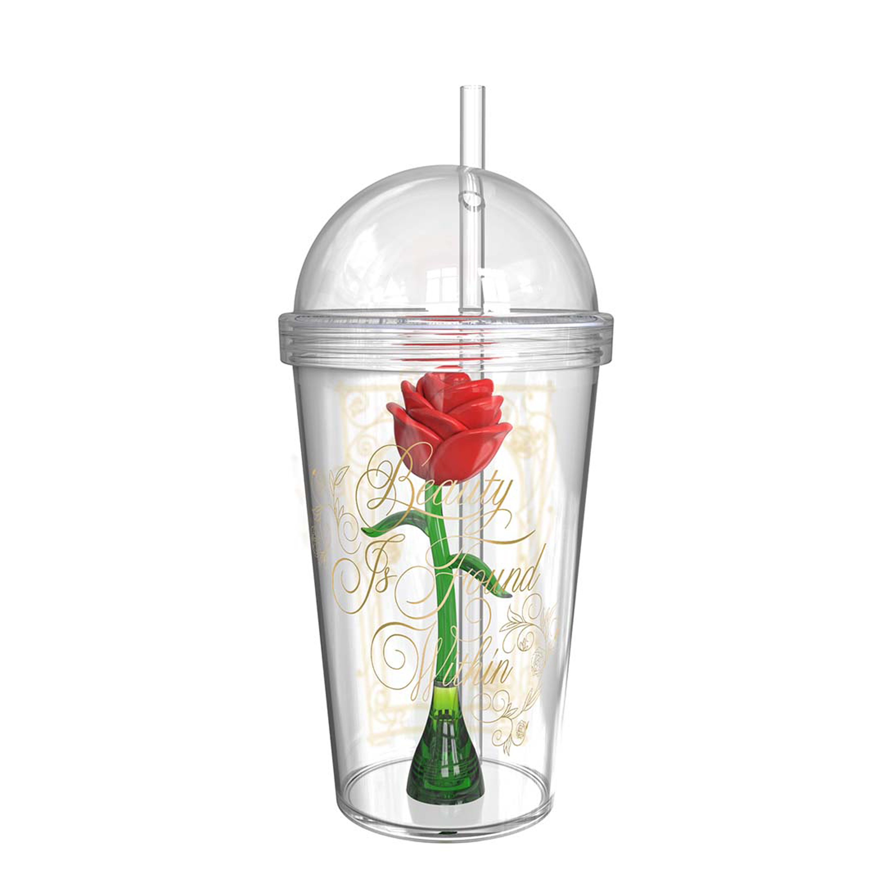 Beauty And The Beast 22 ounce Kid's Tumbler, Enchanted Rose slideshow image 1