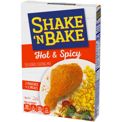 Kraft Shake 'n Bake Hot & Spicy Seasoned Coating Mix, 4.75 oz Box