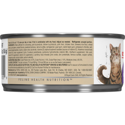 Royal Canin Feline Health Nutrition Spayed / Neutered Canned Cat Food