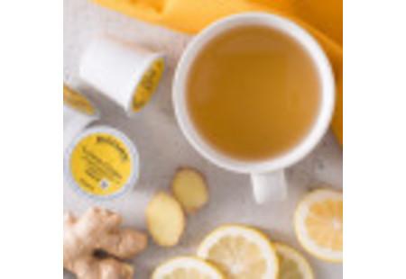 Bigelow Lemon Ginger Herbal Tea K-Cups box for Keurig