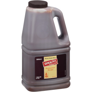 OPEN PIT Hickory Smoke BBQ Sauce, 1 gal. Jugs (Pack of 4) image