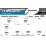 "Marine-Grade #316 Stainless Steel Hex Cap Screws Assortment (1/2""-13)"