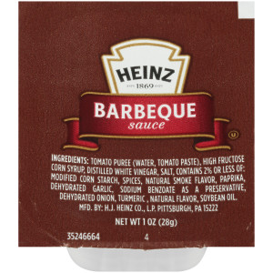HEINZ Single Serve Barbecue Sauce Dip Cup, 1 oz. Cup (Pack of 100) image