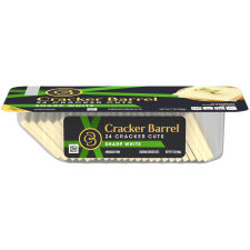 Cracker Barrel Cracker Cuts Sharp White Cheddar Cheese 24 Slices - 7 oz Tray