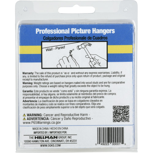 OOK ReadyNail Professional Picture Hanger 10lb (40pc Value Pack)