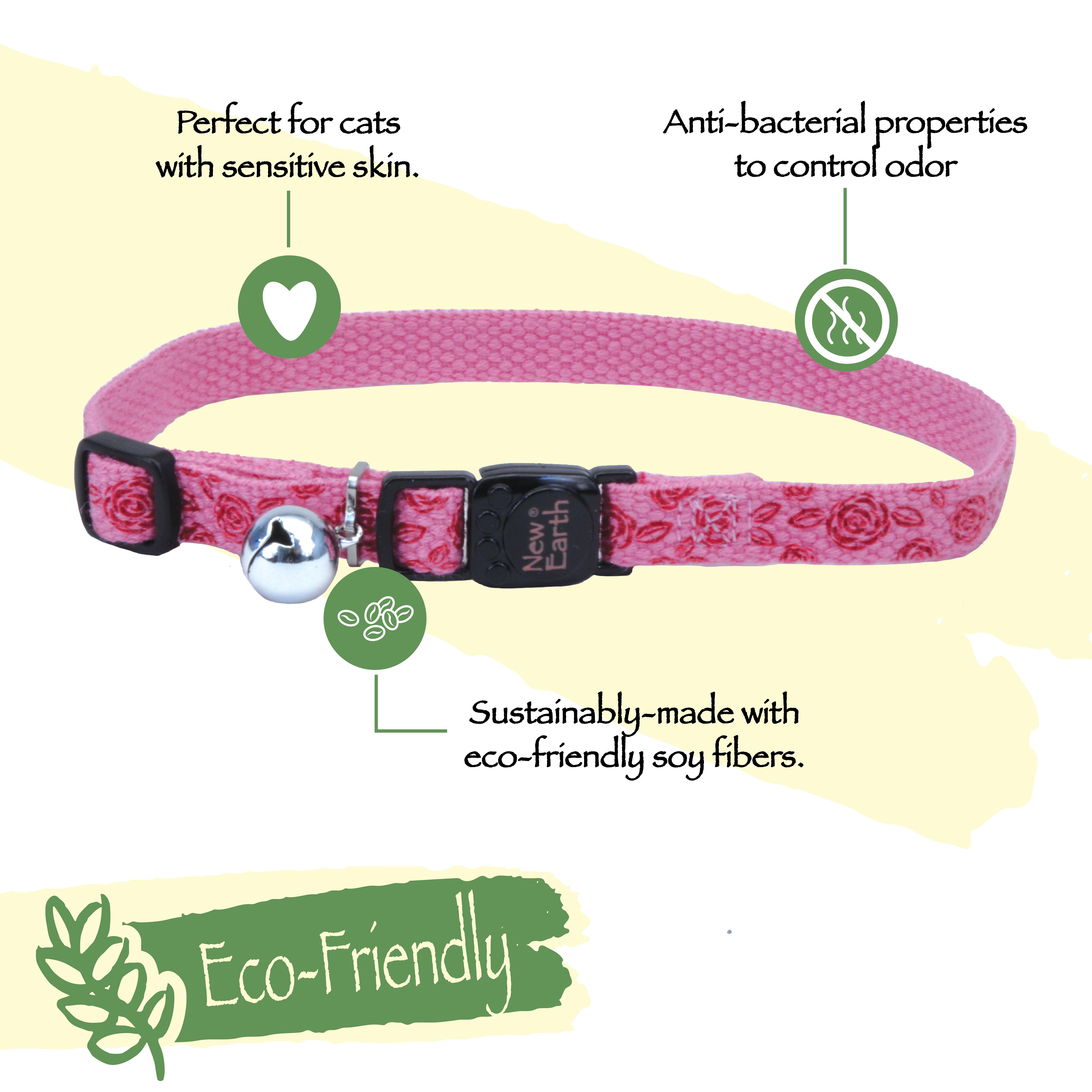New Earth® Printed Soy Breakaway Collar