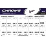 Chrome Flat-Head Socket Cap Screws Assortment (SAE)