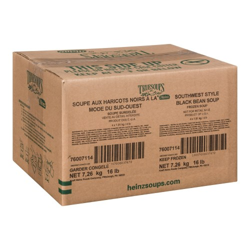 TRUESOUPS Lower Sodium Black Bean Soup 4lb 4