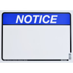 "Aluminum Blank Notice Sign, 10"" x 14"""