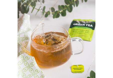 Lifestyle image of a cup of Bigelow Green Tea