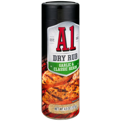 A.1. Garlic and Classic Herbs Dry Rub 4.5 oz Can