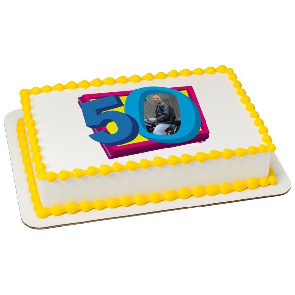 50th Birthday Signature Photo Frame: PhotoCake® Frame