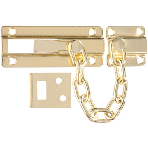 Hardware Essentials Dead Bolt Chain Guard Brass
