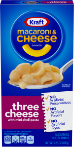 Kraft Three Cheese Macaroni & Cheese Dinner 7.25 oz Box image