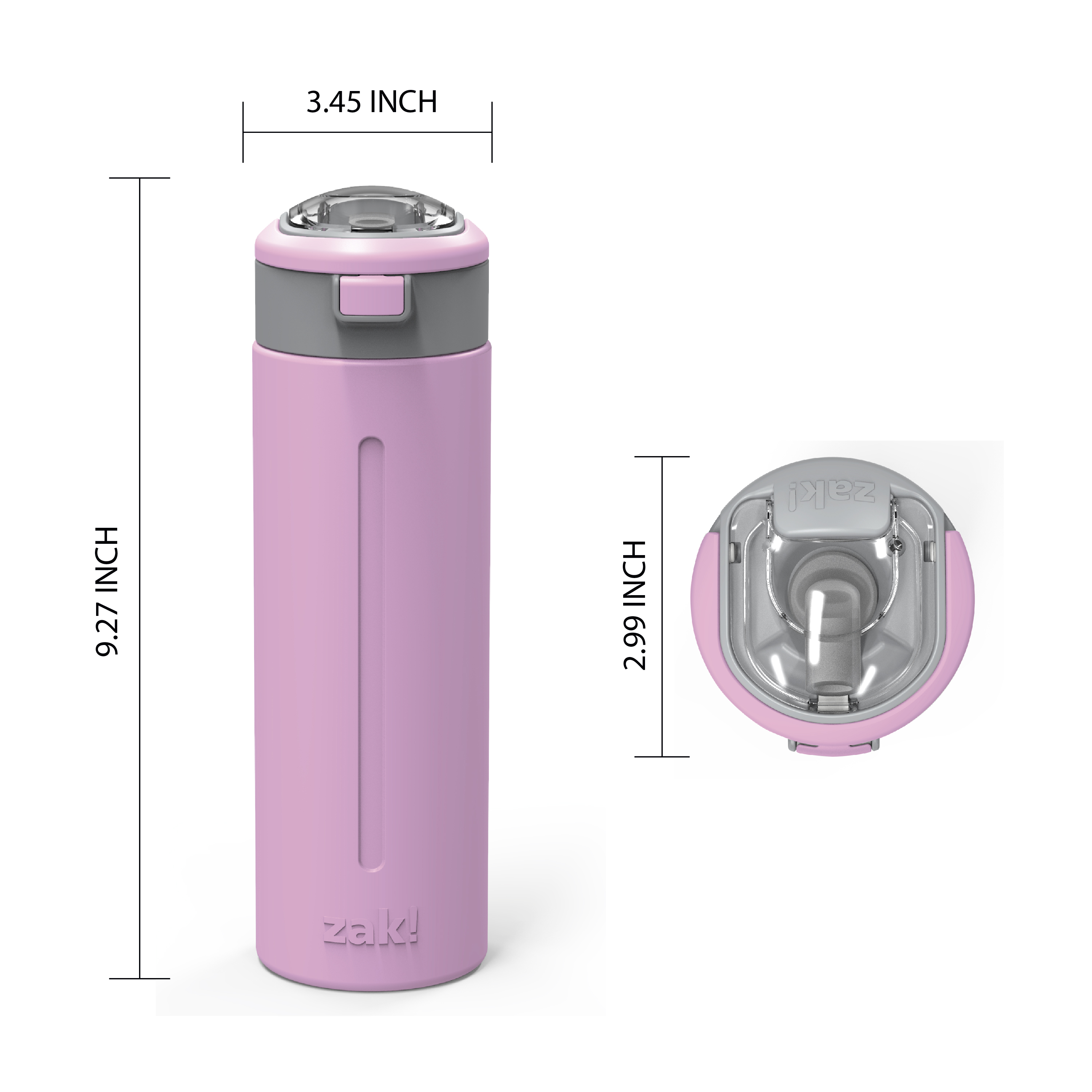 Genesis Vaccum Insulated Stainless Steel Water Bottle, Lilac slideshow image 6